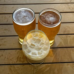 image of Beer with brandy & milk at Margate Kent England