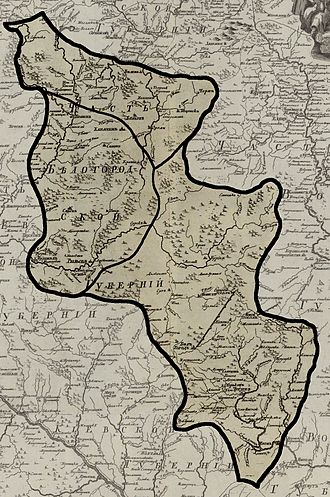 Belgorod Oblast - Map of Belgorod Governorate (1745)