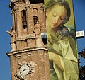 Belltower with Street Poster - Cathedral - Zaragoza - Spain (14394002569).jpg