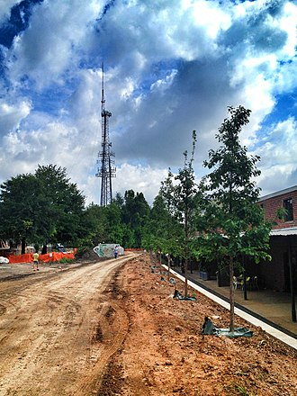 Parks in Atlanta - BeltLine Eastside Trail under construction in the Old Fourth Ward, May 2012