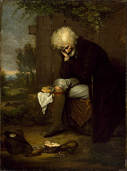 Benjamin West - The Pilgrim Mourning His Dead Ass - Google Art Project