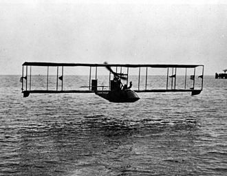 Benoist XIV - A Benoist XIV over Tampa Bay in Florida in 1914.