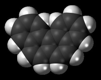 Benzo(c)phenanthrene - Image: Benzo(c)phenanthrene 3D spacefill