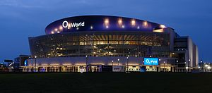 Mercedes-Benz Arena (Berlin) - Image: Berlin O2 night