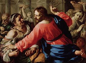 Bernardino Mei - Christ Cleansing the Temple, c 1655 (J. Paul Getty Museum)