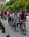Bicyclists on Avenida Juarez, Mexico City.jpg