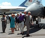 Bill and Hillary Clinton and Air Force One Sep1-1995 (cropped).jpg