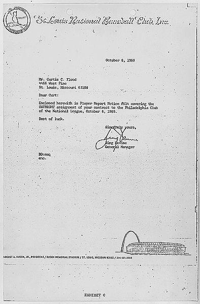 File:Bing Devine letter to Curt Flood.jpg