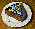 Birthday cake - sachertorte and coloured candies.jpg