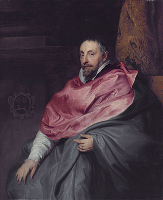 Gallery of Archduke Leopold Wilhelm in Brussels (Petworth) - Image: Bishop Antonius Triest (1576 1657), by circle of Sir Anthony van Dyck