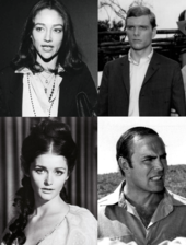 the central cast of black christmas clockwise from left to right olivia hussey keir dullea john saxon and margot kidder - Black Christmas 2006 Cast