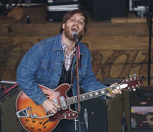 Dan Auerbach of The Black Keys, playing at SXS...