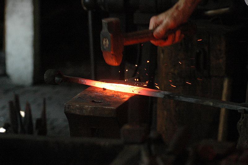 File:Blacksmith working.jpg