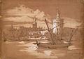 Blick auf den Goldturm und die Kathedrale von Sevilla, 1845.jpg
