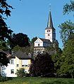 Blick vom Deich auf die Doppelkirche St. Maria und Clemens.jpg