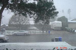 2007 Western United States freeze - Heavy snowfall in San Bernardino, California