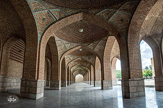 Blue Mosque, Tabriz - vault corridors of Blue Mosque, Tabriz
