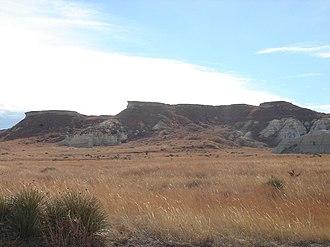 Gove County, Kansas - Image: Bluffsnearcastlerock