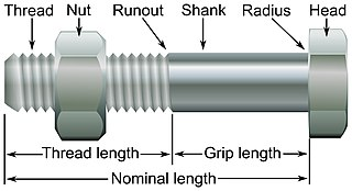 Bolt (fastener) cylindrical fastener with an external thread intended to be used together with a nut