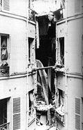Foto des beschädigten Gebäudes