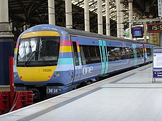British Rail Class 170 - One Anglia 170204 at London Liverpool Street.