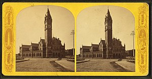Columbus Avenue (Boston) - Image: Boston and Providence R.R. Station, exterior, from Robert N. Dennis collection of stereoscopic views