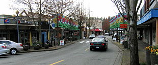 Main Street in Bothell, Washington