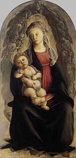 <i>Madonna in Glory with Seraphim</i> (Botticelli) painting by Sandro Botticelli