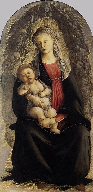 Madonna in Glory with Seraphim (Botticelli) - Image: Botticelli, madonna in gloria di serafini