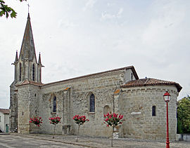 The church in Bourgougnague