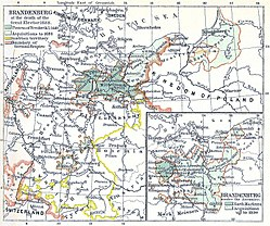 The Duchy of Magdeburg within Brandenburg-Prussia at the death of the Great Elector (1688)
