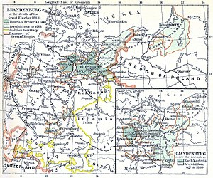 Duchy of Magdeburg - The Duchy of Magdeburg within Brandenburg-Prussia at the death of the Great Elector (1688)