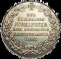 Bremen 1 taler gold 1863 hinten.png