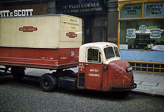 Scammell Scarab - Scammell Scarab in British Railways livery, London, 1962.