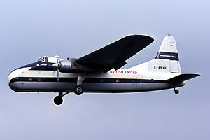 Bristol Superfreighter - A British United Air Ferries Superfreighter in 1966