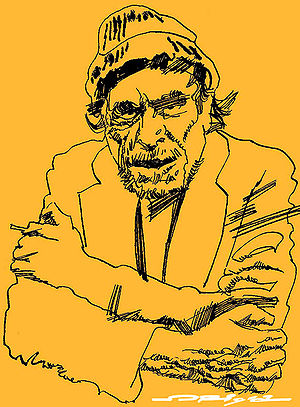 English: Charles Bukowski, portrait by italian...