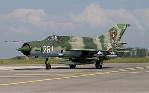 ブルガリア軍のMiG-21bis