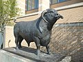 Bull statue, outside Oxford Railway Station (geograph 2874239).jpg