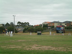 Bulleen, Victoria - The Bulleen Templestowe Cricket Club playing at Ted Ajani Reserve in Lower Templestowe