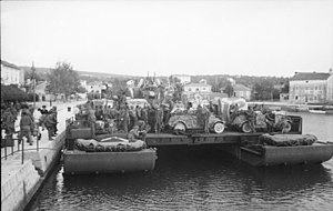 2 cm Flak 30/38/Flakvierling - The rear-location wheelhouse of this Siebel ferry features a Flakvierling quadmount AA battery to defend it in 1942 Yugoslavia.