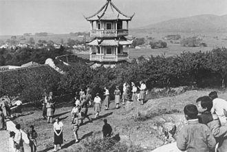 Egg hunt - Easter egg hunt in Wuxi, Jiangsu (1934)