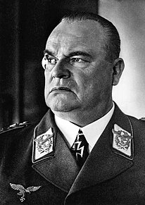 Portrait of Hugo Sperrle, a uniformed Nazi German air force general in his 50, commanding Luftflotte 3