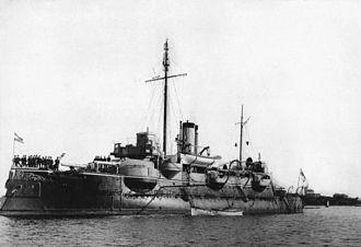 """Siegfried-class coastal defense ship - Image: Bundesarchiv Bild 146 2008 0173, Küstenpanzerschiff """"SMS Beowulf"""""""