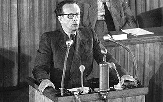 Vincenz Müller - Müller (NDPD) speaking in Volkskammer 15.9.1951.
