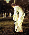 Burne Jones Saint George and The Dragon The Princess Tied to the Tree 1866.jpg