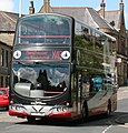 "Burnley & Pendle bus 2762 (PJ05 ZWK) ""Margaret Pearson"", 2005 Volvo B7TL Wrightbus Eclipse Gemini, The Witch Way, Crawshawbooth, 9 June 2011.jpg"