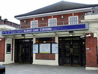 Burnt Oak tube station - Image: Burnt Oak stn building