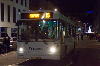 Transdev - MyBus Caetano Slimbus bodied Dennis Dart, showing the Connex logo, in St Helier, Jersey in December 2012