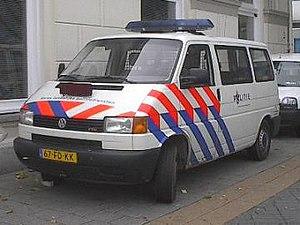 Korps landelijke politiediensten - VW Transporter 4 from the railway police (KLPD)