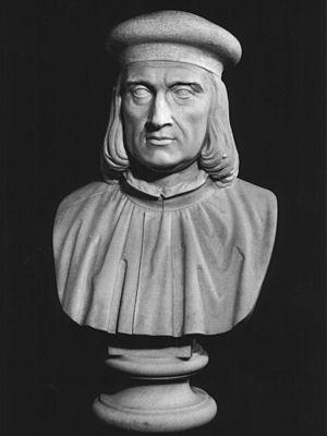 Aldus Manutius - Bust of Aldo Manuzio. Panteon Veneto; Istituto Veneto di Scienze, Lettere ed Arti